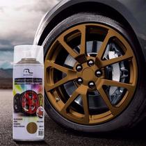 Tinta Spray Envelopamento Liquido Dourado 400ml Multilaser