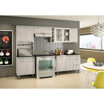 Cozinha 100% Mdf 4 Pçs Balcão Com Tampo Armário Nicioli