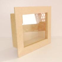 Cenário Com Vidro Mdf P/montagem Scrapdecor,3d,arte Francesa