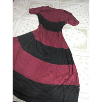 Maxi Vestido Bicolor Talla L-xl