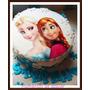 Torta Decorada Frozen Elsa Anna ,precio Por Kg ,como En Foto