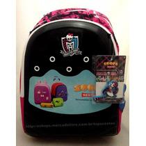 Mochila Grande De Costas Monster High Zoops Original Sestini