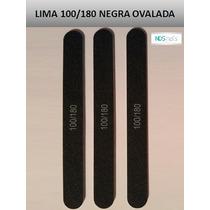 Lima 100/180 Ovalada Negra Para Uñas