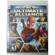 Marvel Ultimate Alliance Ps3 Mídia Física Completo Raríssimo