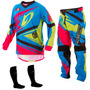 Conjunto Calça Camisa Insane 4 Azul Pink Motocross Pro Tork