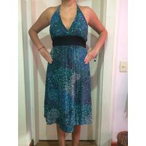 Vestido Solero Estampado Azul. Corto Nuevo. De Verano