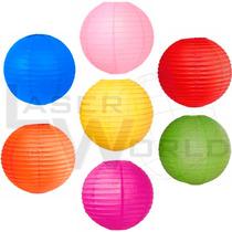 4 Lámpara Papel Color 40cm Globo Arroz Decorativa Farolchino
