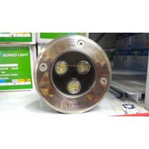 Kit 10 Balizador Luminária Led Chão Piso Jd 3w Embutir