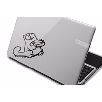 Adesivo Simon´s Cat Notebook Hp Acer Positivo Dell Samsung