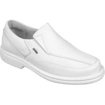Sapato Branco Masculino Confort Stilo Doctor Pé/shoes