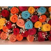 Recuerdo Boda Xv Quinceañera Rosas De Toalla 10 Piezas