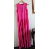 Hermoso Maxi Vestido Largo Rosa Fucsia Asos T36/38 Nuevo