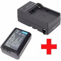 Kit Bateria Sony Np-fw50 + Carregador Bc-vw1 P Alpha Sony