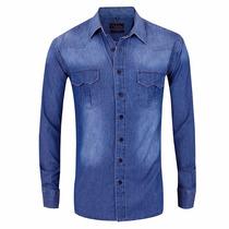 Camisa Entallada Jean - Quality Import Usa