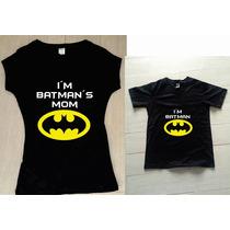 Pkt Playeras Batman Mama Dia De Las Madres Personalizadas
