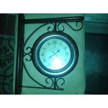 Reloj De Pared Doble En Madera