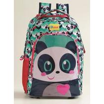 Mochila Divertidas Com Rodinha Panda - Puket