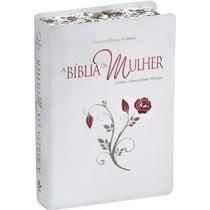Bíblia De Estudo Da Mulher Bordas Floridas Grande + Capa