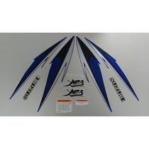Kit Adesivos Suzuki Yes 125 2008 Azul