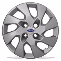 Calota Aro 14 Prata Parafuso Ford Fiesta Ka Escort + Emblema