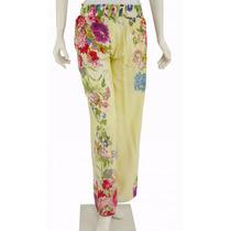 Pantalón Amarillo Con Flores Soho