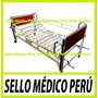 Cama Clínica + 2 Manivelas + Sin Colchon +ruedas Nueº