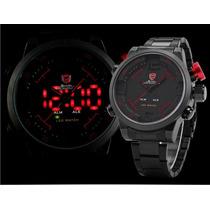 Relógio Esportivo Led Shark Sh105 Original Prova D