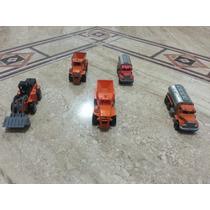 Llote De 5 Carritos De Construccion En Miniatura De Metal