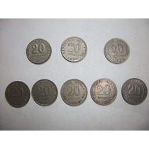 Monedas Antiguas Argentinas 10 De 0.20 Ctv. De 1906 A 1942