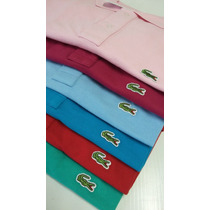 Camisa Pólo Lacoste Masculina Logo Sobreposto Kit C/ 3 Peças