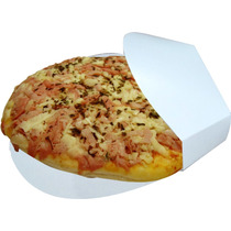Caixa Caixinhas Embalagem Mini Pizza Branco - 500 Pçs