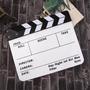 Claqueta Clack Profesional Bifaz Para Cine Blanca
