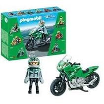 Retromex Playmobil 5524 Moto Deportiva Carrera Ciudad Accion