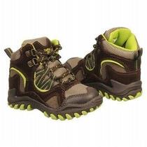 Oshkosh Zapatos Niño Cafes Con Verde Talla 11m O 28