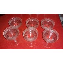 Juego 6 Copas Talladas Champagne O Sidra - Cristal