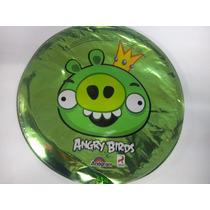 12 Globos Metalico 9 Pulg. Angry Birds Pig Centro Mesa