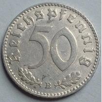 Tercer Reich - Alemania Nazi - 50 Reichspfennig 1.943 B
