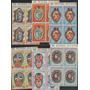 Guinea E Arte Mascaras Africanas Serie Completa Cuadros Mint