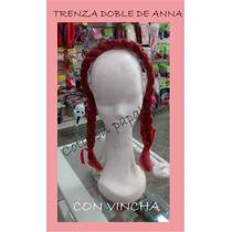 Frozen Anna Trenzas Con Vincha Elsa Disfraz Accesorio Regalo