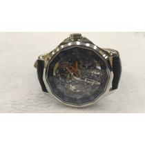 Relógio Corum Automático Transperente Pulseira Preta