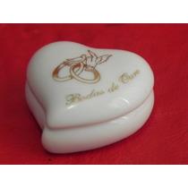 Lembranças Porcelana Bodas Ouro Porta Joia Coração Squeezes
