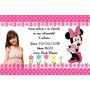 Convites Personalizados Minnie 30 Unidades Rosa Ou Vermelho