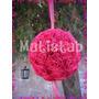 Esfera Rosas De Papel Crepe 21 Cm Diametro