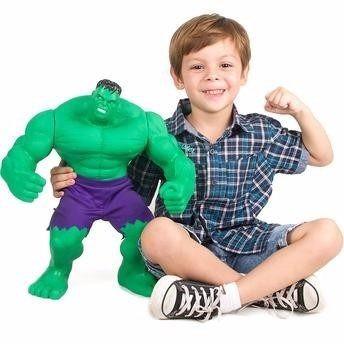 f7694cf195652 Boneco Hulk Marvel Gigante 55 Cm Mimo 453 - R  240