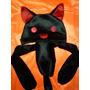 Touca Anime Gato Black & Red Novidade