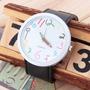 Relógio Alternativo Casual Divertido Lapis De Cor