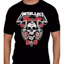 Kit 6 Camiseta Rock Slipknot, Metallica, Guns N Roses, Iron