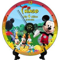 Reloj Cd Personalizado Souvenir X10 Unid.gratis Pila Y Atril