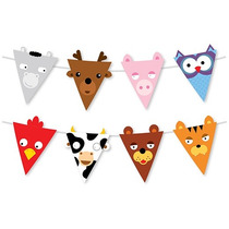 Banderas De Animales Para Fiesta Infantil