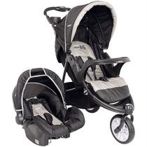 Travel System Carrinho De Bebê + Bebê Conforto Fox Preto Kid